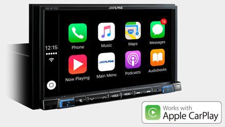 Works with Apple CarPlay - INE-W710D