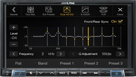 High-end Sound Tuning Options - INE-W710D