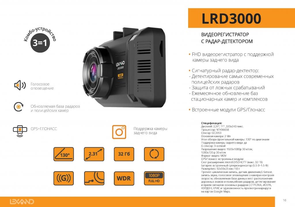 Сигнатурный радар-детектор LEXAND LRD3000