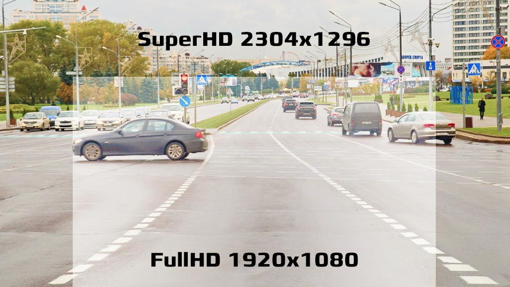CARCAM COMBO 5S - Запись в разрешение Super HD