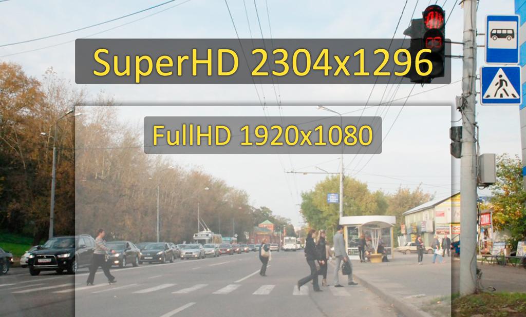 Автомобильный видеорегистратор CARCAM HYBRID - Запись в разрешении Super HD 2304x1296p при 30 к/c