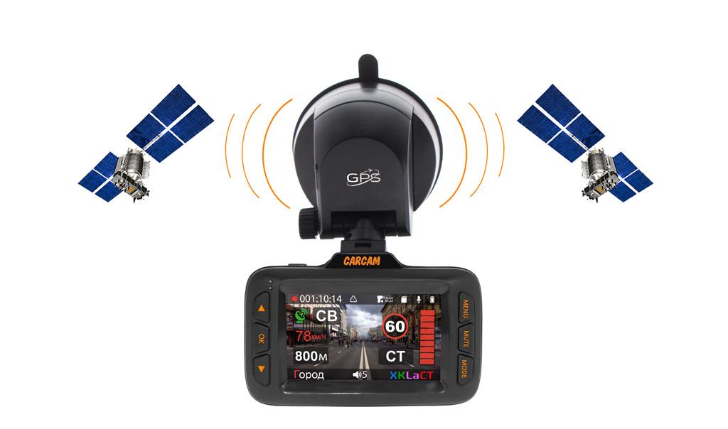 Автомобильный видеорегистратор CARCAM HYBRID - GPS/ГЛОНАСС модуль