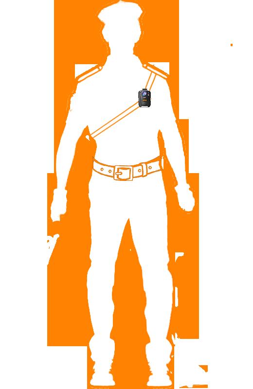 крепленпие на грудь для персонального видеорегистратора КАРКАМ КОМБАТ 2s