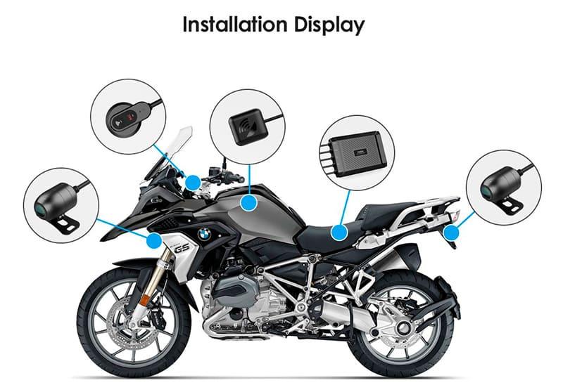 Пример установки видеорегистратора MT1 на мотоцикл