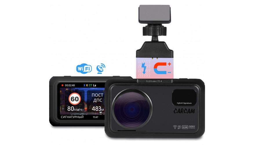 Автомобильный видеорегистратор с сигнатурным радар-детектором CARCAM HYBRID 3 Signature
